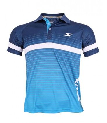 POLO SIUX LINKED AZUL BLANCO