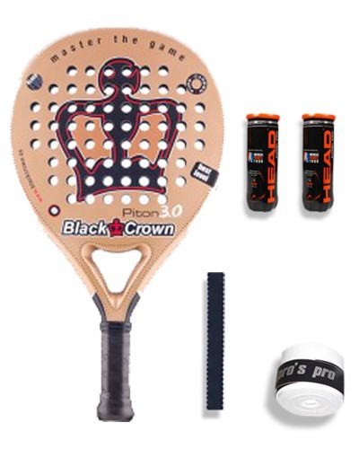 TEST PALA DE PADEL BLACK CROWN PITON 3.0
