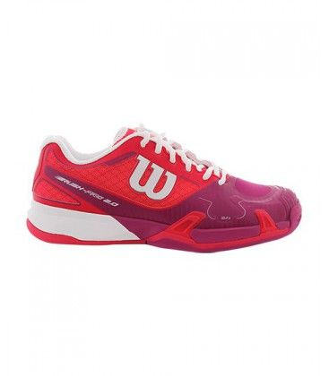 WILSON RUSH PRO 2.0 CLAY COURT WOMENS ROJO Y ROSA