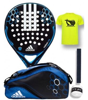 PACK ADIDAS PALA Y PALETERO CARBON CONTROL