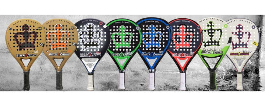 palas de padel black crown