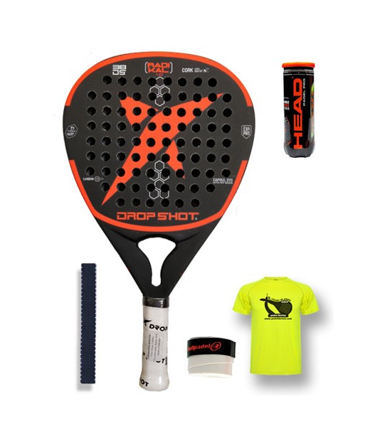 Drop Shot Radikal Carbon Roja – Domina la potencia