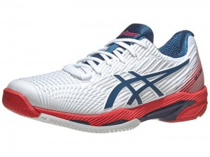 ASICS SOLUTION SPEED FF 2 CLAY WHITE MAKO BLUE